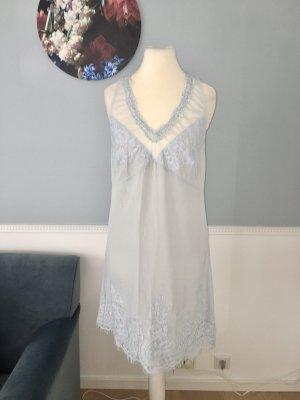 Twin set Mini vestido gris claro-azul celeste