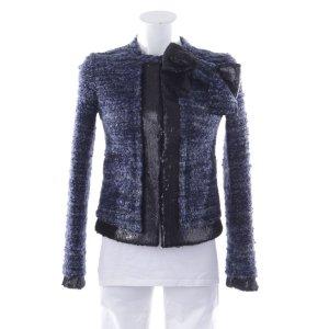 Twin set Tweed Blazer black-blue polyacrylic