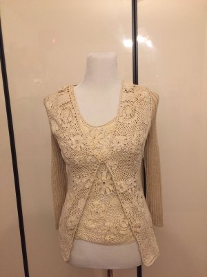 Blumarine Sweater Twin Set cream