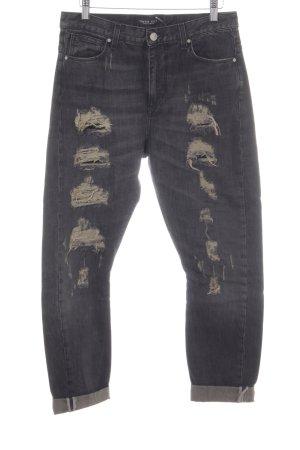 Twin set Boyfriendjeans dunkelgrau Jeans-Optik