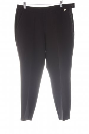 Twin set Bundfaltenhose schwarz Business-Look