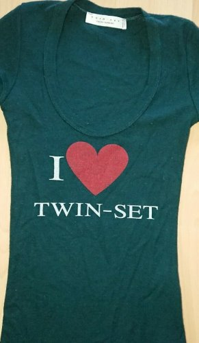 Twin set by simona Barbieri, T Shirt, Grün, Gr S, Druck, I Love Twin Set
