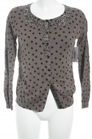 Twin set Cardigan braun-schwarz Punktemuster Street-Fashion-Look