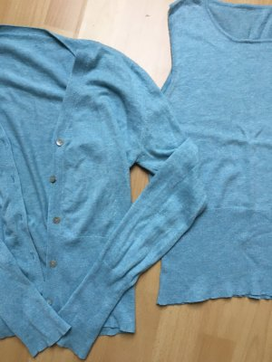 Sweater Twin Set azure-cornflower blue