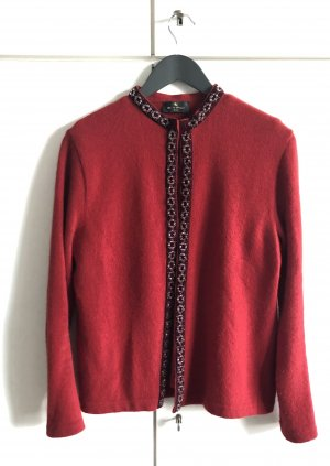 Etro Milano Knitted Twin Set red angora wool