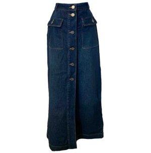Twin set Denim Skirt neon blue cotton