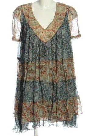Twin set Sukienka z krótkim rękawem Na całej powierzchni W stylu casual