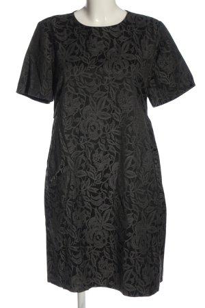 Twin set Sukienka z krótkim rękawem czarny-jasnoszary Wzór w kwiaty