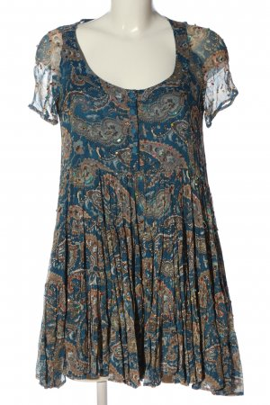 Twin set Shortsleeve Dress blue-brown abstract pattern casual look