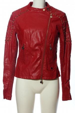 Twin set Lederjacke rot Casual-Look