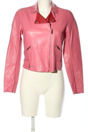 Twin set Lederjacke pink Casual-Look