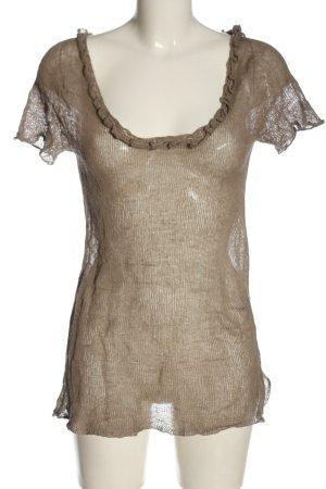 Twin set Długa koszulka brązowy W stylu casual