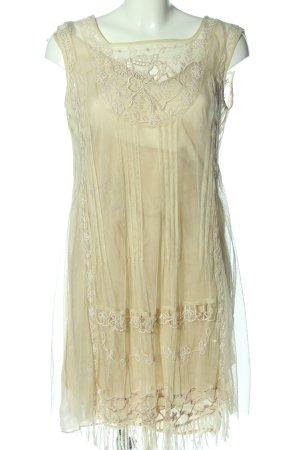 Twin set Mini Dress cream weave pattern casual look
