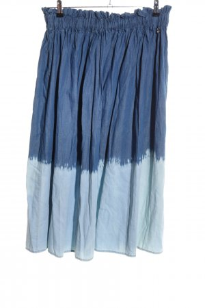 Twin Set My Twin Midirock blau Farbverlauf Casual-Look