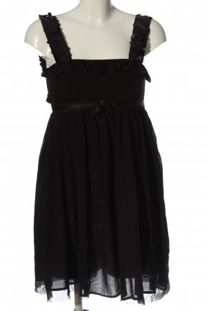 Twin set Vestido de lentejuelas negro elegante