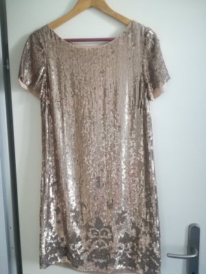 Twin set Sequin Dress gold-colored