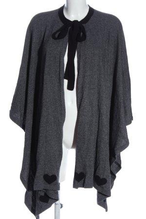 Twin set Poncho gris claro-negro look casual