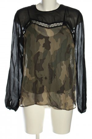Twin set Schlupf-Bluse Camouflagemuster Casual-Look