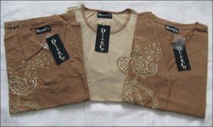 Twin-Set Shirt, Poloshirt & Cardigan von Denim & Co in Gr. M