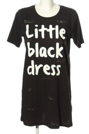 Twin set Shirtkleid schwarz-weiß Schriftzug gedruckt Casual-Look