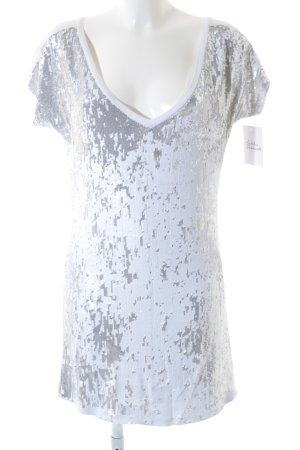 Twin set Shirtkleid weiß-silberfarben Glanz-Optik
