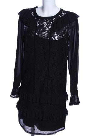 Twin-Set Simona Barbieri Abendkleid schwarz Blumenmuster Elegant