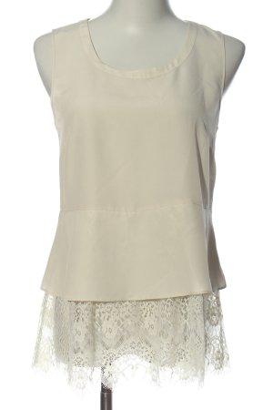Twin-Set Simona Barbieri Blusa sin mangas blanco puro elegante