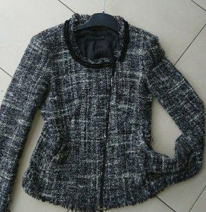 Twin-Set Simona Barbieri Blazer en tweed noir-blanc