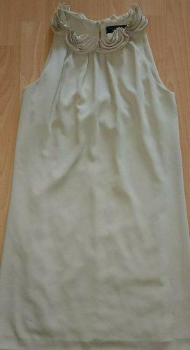 Twin set simona Barbieri, Kleid, Rüschen, Gr M, Beige, Luxus, A Form, NP 499 €