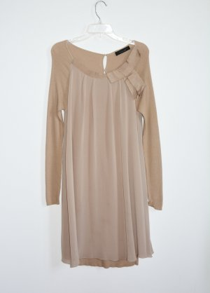 Twin Set Simona Barbieri Kleid Strickkleid Camel  beige Gr. L