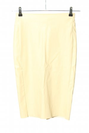 Twin-Set Simona Barbieri Falda de cuero de imitación amarillo pálido