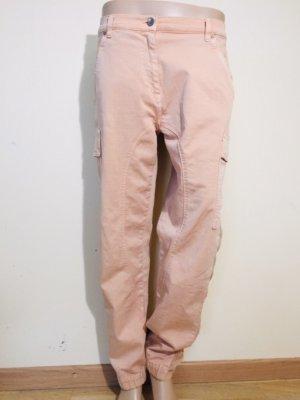 Twin set Pantalon cargo rose chair-crème