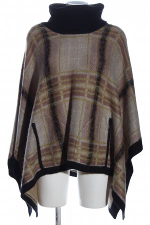 Twin-Set Simona Barbieri Poncho Karomuster Casual-Look