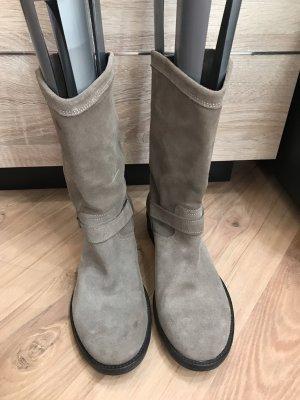 Twin set Bottes plissées marron clair-gris brun cuir