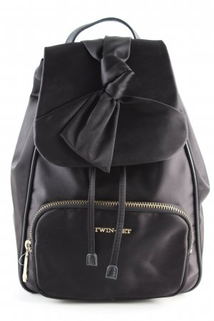 Twin-Set Simona Barbieri Trekking Backpack black casual look