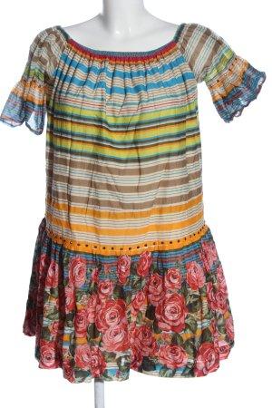 Twin set Letnia sukienka Wzór w kwiaty W stylu casual