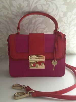 TWIN-SET Tasche . In Trenddigen Farben Rot und Pink . Klen aber fein