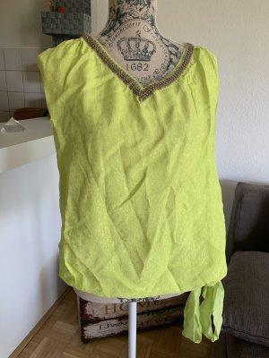 Twin-Set Viskose Kurzarm-Bluse! Gelb/Yellow - Größe S 36! WoW