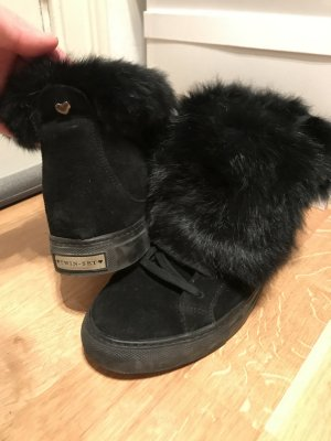 Twin Set Wedge Sneaker with Fur