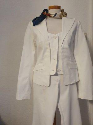 Laura Scott Woven Twin Set white