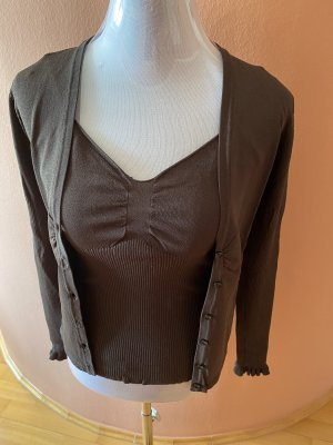More & More Knitted Twin Set dark brown