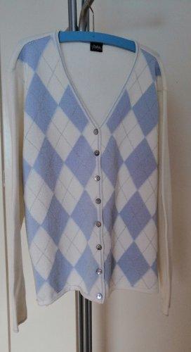 Bottega Dzianinowy podwójny zestaw  biały-błękitny