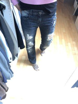 Twinset designer jeans used look mit Swarovski