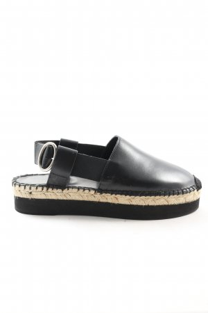 Twinset Espadrille Sandals black casual look