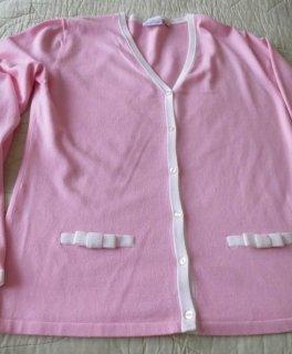 Sweater Twin Set white-pink