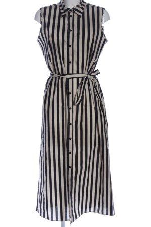 Twinset Hemdblusenkleid weiß-schwarz Streifenmuster Casual-Look