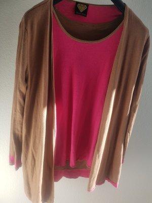 Sarah Kern Ensemble en tricot marron clair-rose