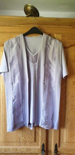 Mesh Shirt purple mixture fibre