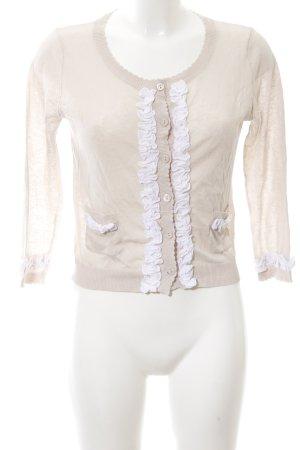 TwinSet Simona Barbieri Cardigan creme-weiß Elegant