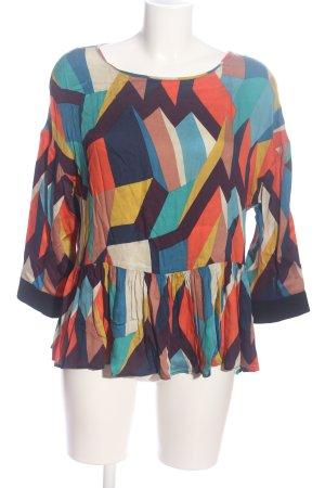 TwinSet Simona Barbieri Langarm-Bluse abstraktes Muster Casual-Look
